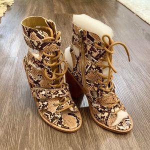 Women's Steve Madden snake skin block heel sandal